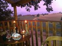 Vue romantique dans la cabane du Lamas