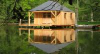 Cabane sur l'eau, le Bois de Mayenne