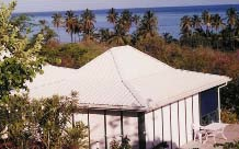 bungalows et cocotiers